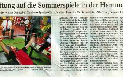 Rückblick Special-Olympics-Wettkampf