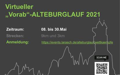 """Virtueller """"Vorab"""" -Alteburglauf 2021"""